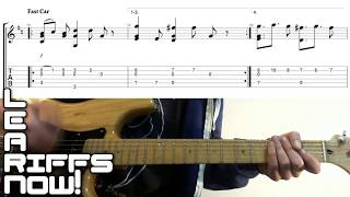 How to play fast car by tracy chapman on guitar, with no capo. a quick guitar lesson tabs for cool laid back riff =)♫ products i use ♫► voodoo labs pe...