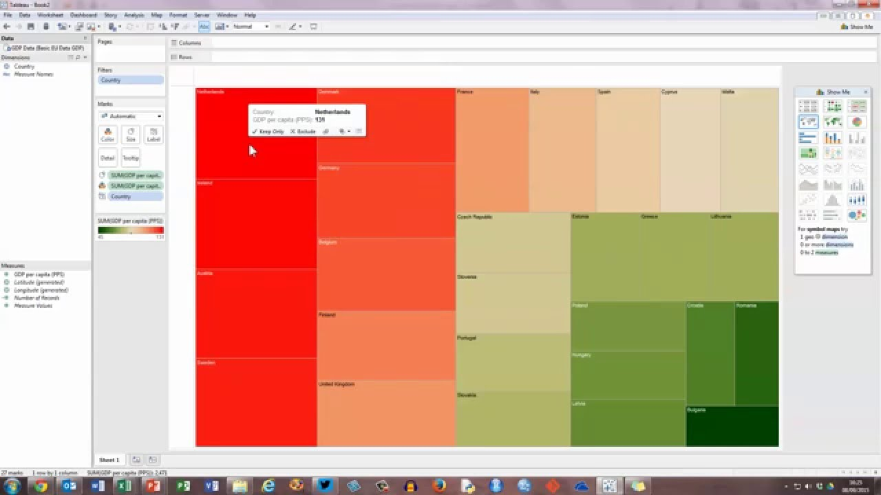 How to create a basic tree map in tableau youtube create a basic tree map in tableau youtube ccuart Gallery