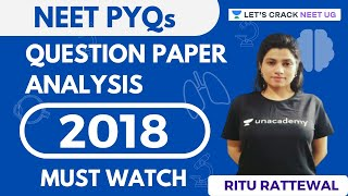 NEET 2018 Question Paper Analysis | Must Watch | NEET Biology | Target NEET 2020 | Ritu Rattewal