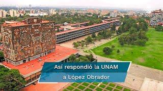 """El jueves y viernes el presidente López Obrador arremetió contra la Máxima Casa de Estudios, al asegurar que se ha """"derechizado"""" y cuestionó que sus egresados sean cada vez más individualistas"""