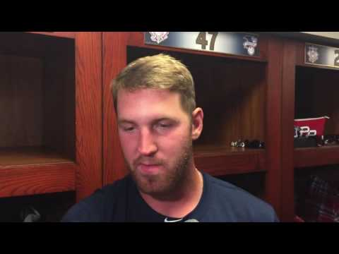 Twins LHP Dietrich Enns after his big-league debut at Brewers