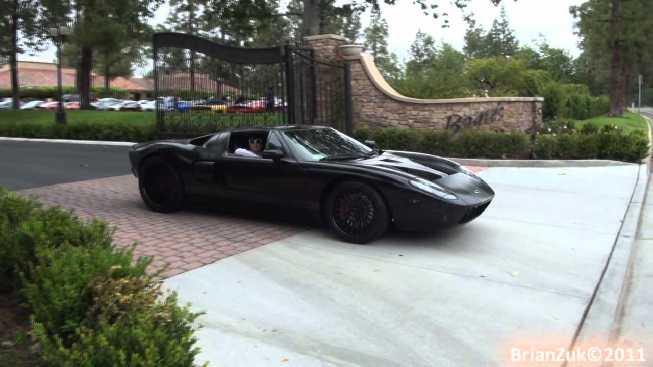 Satin Black Ford Gt Acceleration