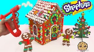 Playdoh DohVinci DIY Shopkins Season 4 Petkins Gingerbread Christmas Holiday Craft House Doh Vinci