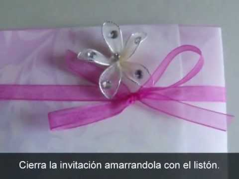 Invitación Con Albanene Decorado