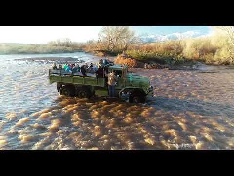 Tonto Basin School Kids Crossing the Creek