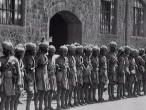 Indian soldiers go to war - newsreel of Mumbai in 1914