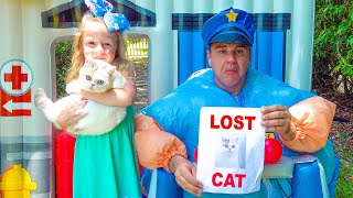 Nastya dan polisi sedang menyelidiki kehidupan rahasia hewan peliharaan itu