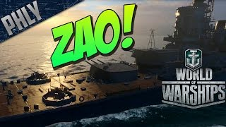 World Of Warships  ZAO - Fighting The Mighty YAMATO - World Of Warships Gameplay
