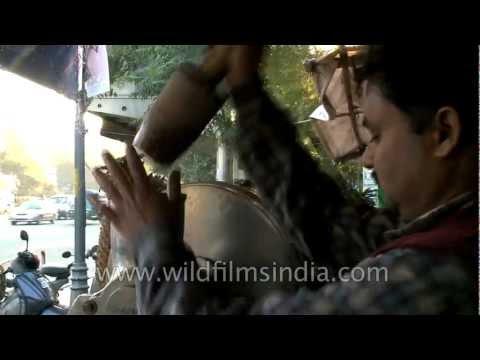 Road-side fresh fruit juice in India!
