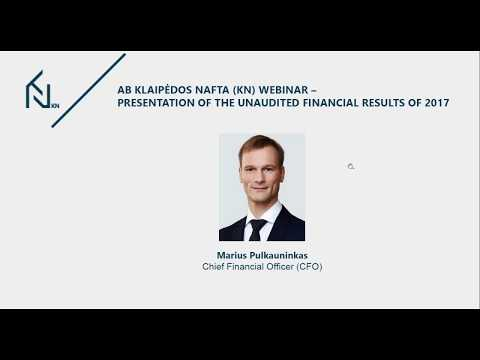 Klaipedos nafta KN unaudited financial results of 2017