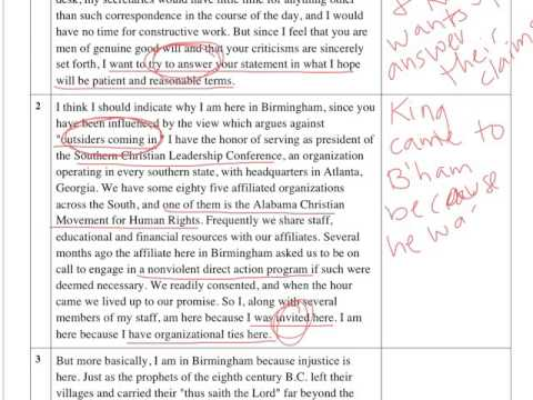 "Par 1-5 ""Letter From Birmingham Jail"" Annotation"