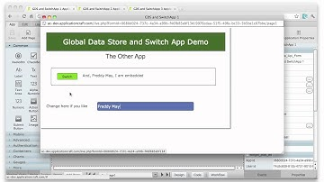 Switching between Apps seamlessly and the Global Data Store