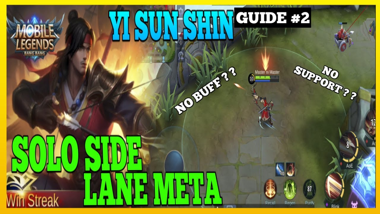 Yi Sun Shin Guide 2 | Advantage of Solo Marksman Side Lane | Master the Basics | YSS Gameplay | MLBB