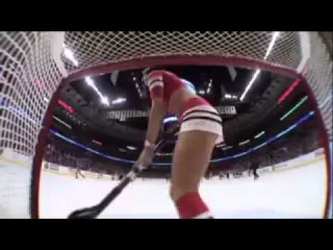 United Center Goalie Cam Catches Ice Crew Girl