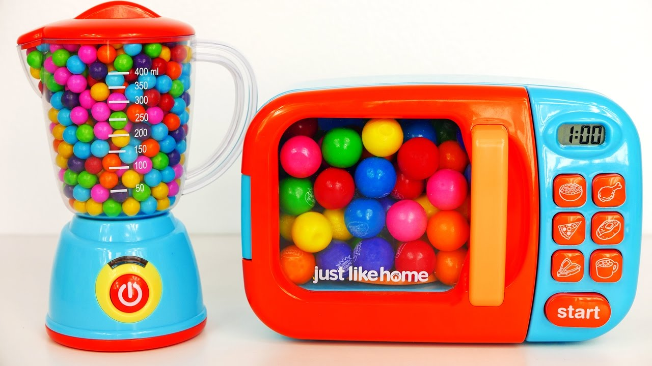 Just Like Home Toy Blender : Cooking with microwave and blender playset learn colors