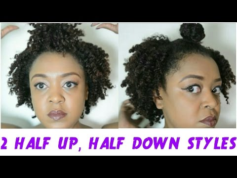Half Up Half Down Short Natural Hair Best Short Hair Styles