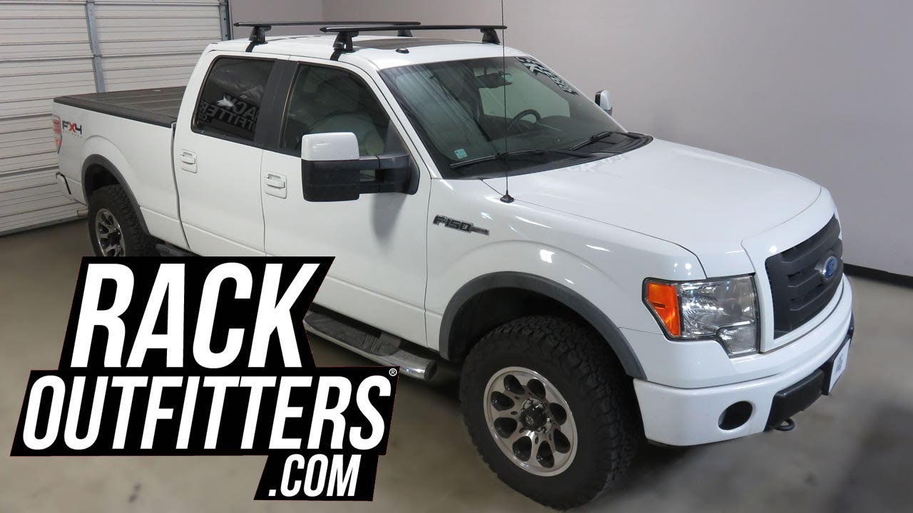 Ford F150 Supercrew Yakima Baseline Jetstream Roof Rack Crossbars