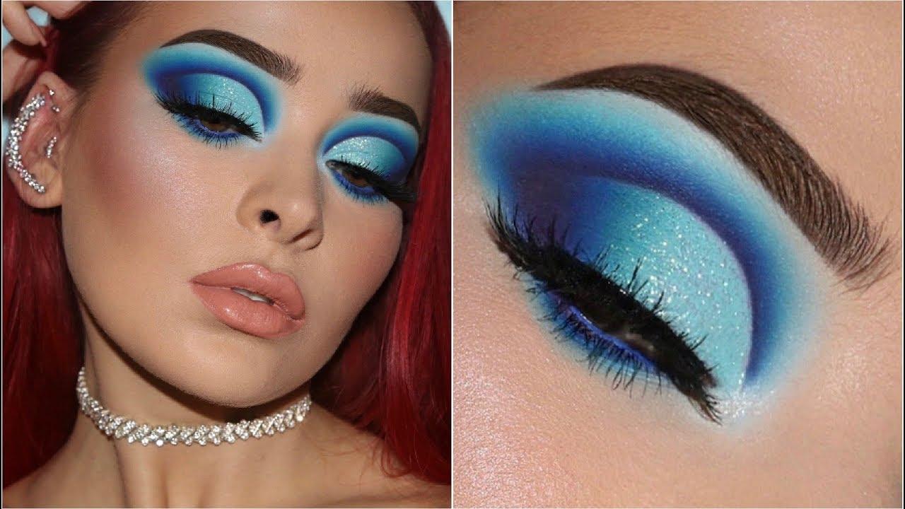 how to rock blue eyeshadow like a boss | in-depth makeup tutorial