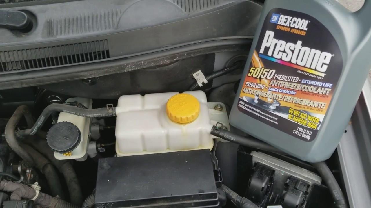 How To Add Coolant Antifreeze 2011 Chevy Aveo Lt Youtube