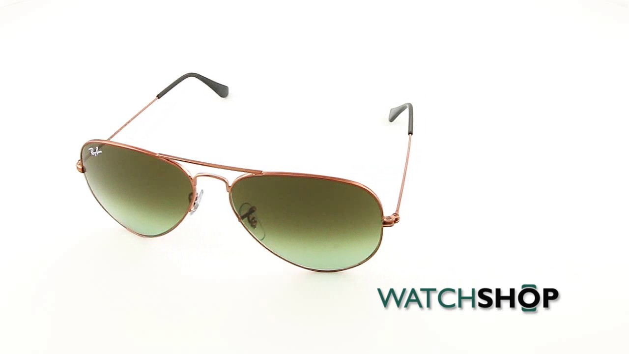 316b2fee480 Ray-Ban Men s Aviator Gradient Sunglasses (RB3025-9002A6-58) - YouTube