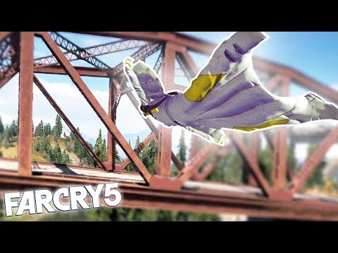 FAR CRY 5 WINGSUIT & GRAPPLE HOOK STUNT! Far Cry 5 Funny Moments & Fails!
