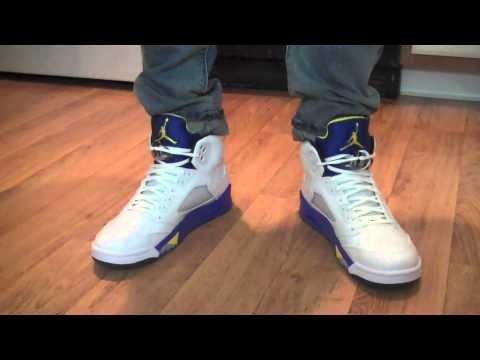 half off dea7b 90436 2013 Air Jordan Retro V 5 Laney on Feet Review!!!