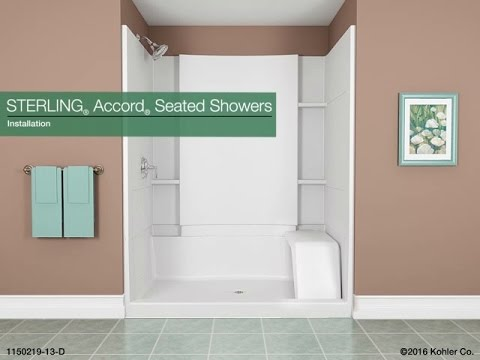 Installation Sterling Accord Seated Showers