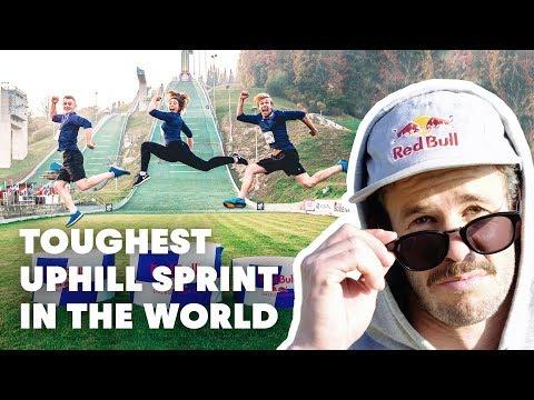 3 Creators Sprint Up A Ski Jump | Red Bull 400 Creators Challenge