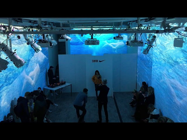 Multi Wall Projection for Product Launch Using Projectors on White Walls
