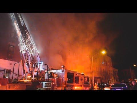 FDNY - Brooklyn Box 40 - Christmas Tree Shack Fire in Greenpoint, Brooklyn