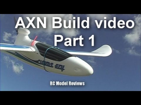 AXN Clouds Fly Floater Jet RC plane build video (part 1 of 3)