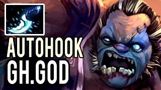 Autohook Machine Gun Pudge with 25 Kills by Gh.God 9k MMR Patch 7.02 Dota 2