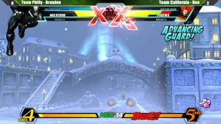 UMVC3 Curleh Mustache Battle Royale 2 @ NEC14 - Team Cali 1 vs Team Philly