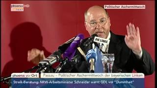 Politischer Aschermittwoch der Linken: Rede von Gregor Gysi am 18.02.2015 thumbnail