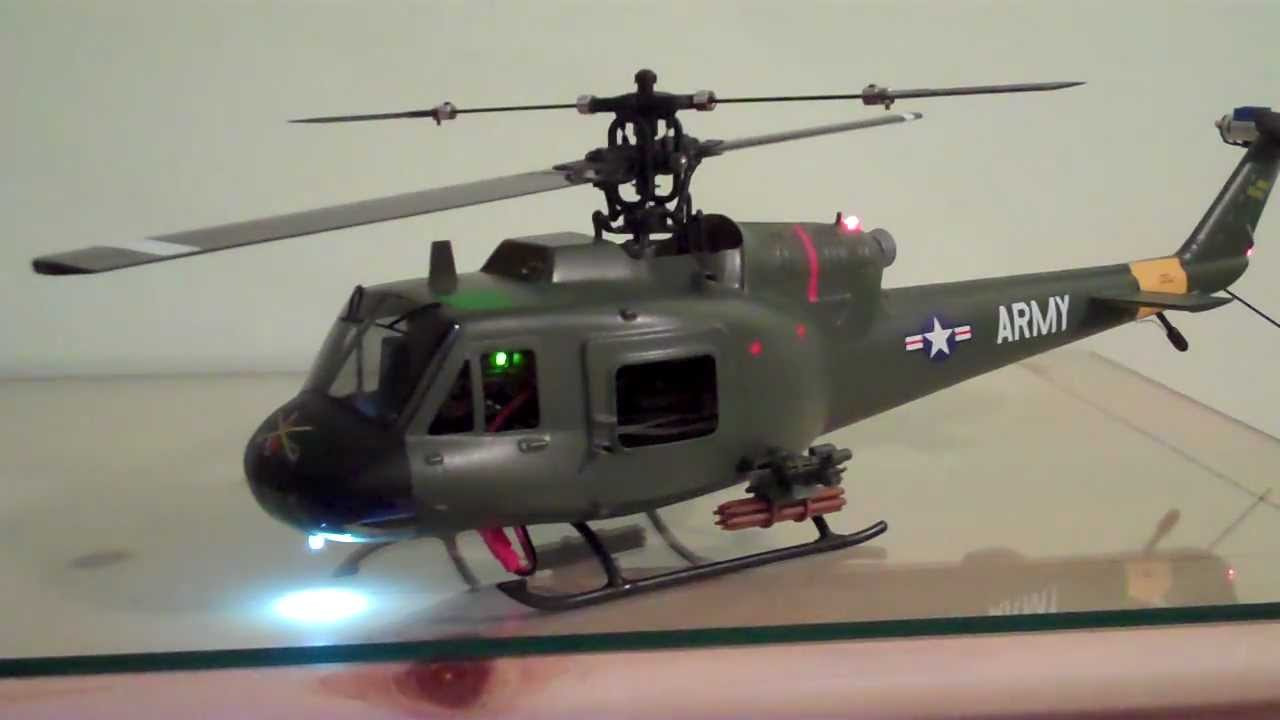 Huey Helicopter For Sale >> Blade CP+ with Huey Gunship Fuselage Upgrade - YouTube