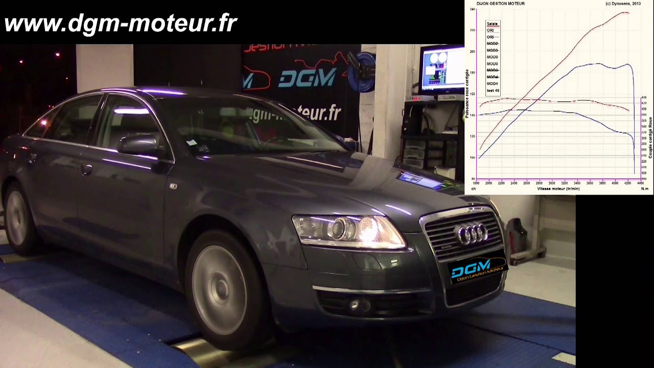 reprogrammation audi a6 3 0l tdi 225ch dijon gestion moteur youtube. Black Bedroom Furniture Sets. Home Design Ideas