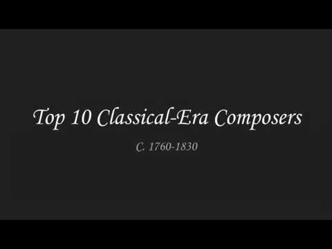 Top 10 Classical Period Composers