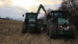 Traktory & Kombajny Kosenie kukurice 2016  2x John Deere  8360RT,8335R Claas Lexion 750TT ORAGRO