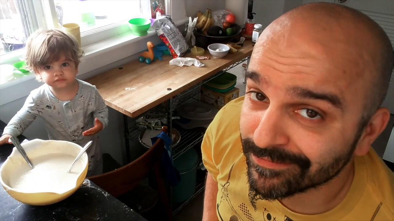 Arlo and Dada Make Pancakes