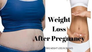 Weight Loss After Pregnancy/how to loss 10kg in 30 days/ a magical drink for weight loss