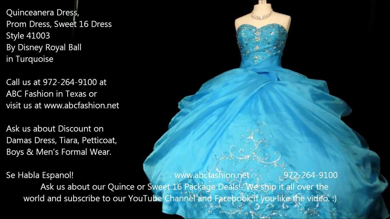 41003 Turquoise Disney\'s Royal Ball Quinceanera Dress, Sweet 16 ...