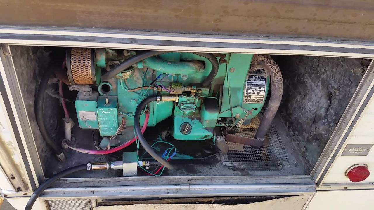 onan generator 2 75aj in a 1977 dodge rv [ 1280 x 720 Pixel ]