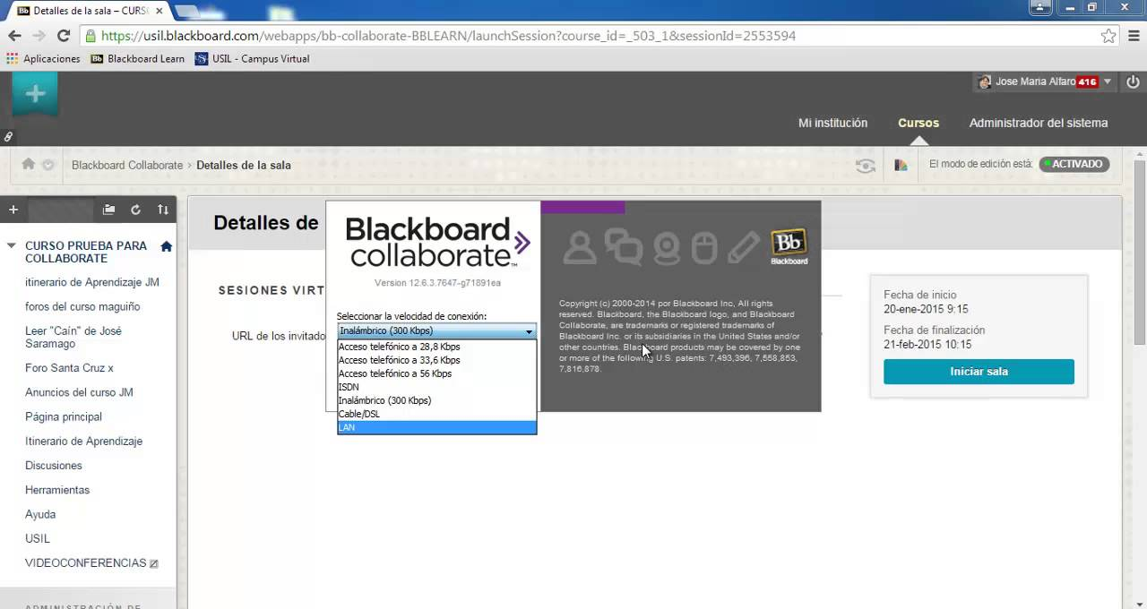 Requisitos en la computdora - Plataforma Blackboard Learn