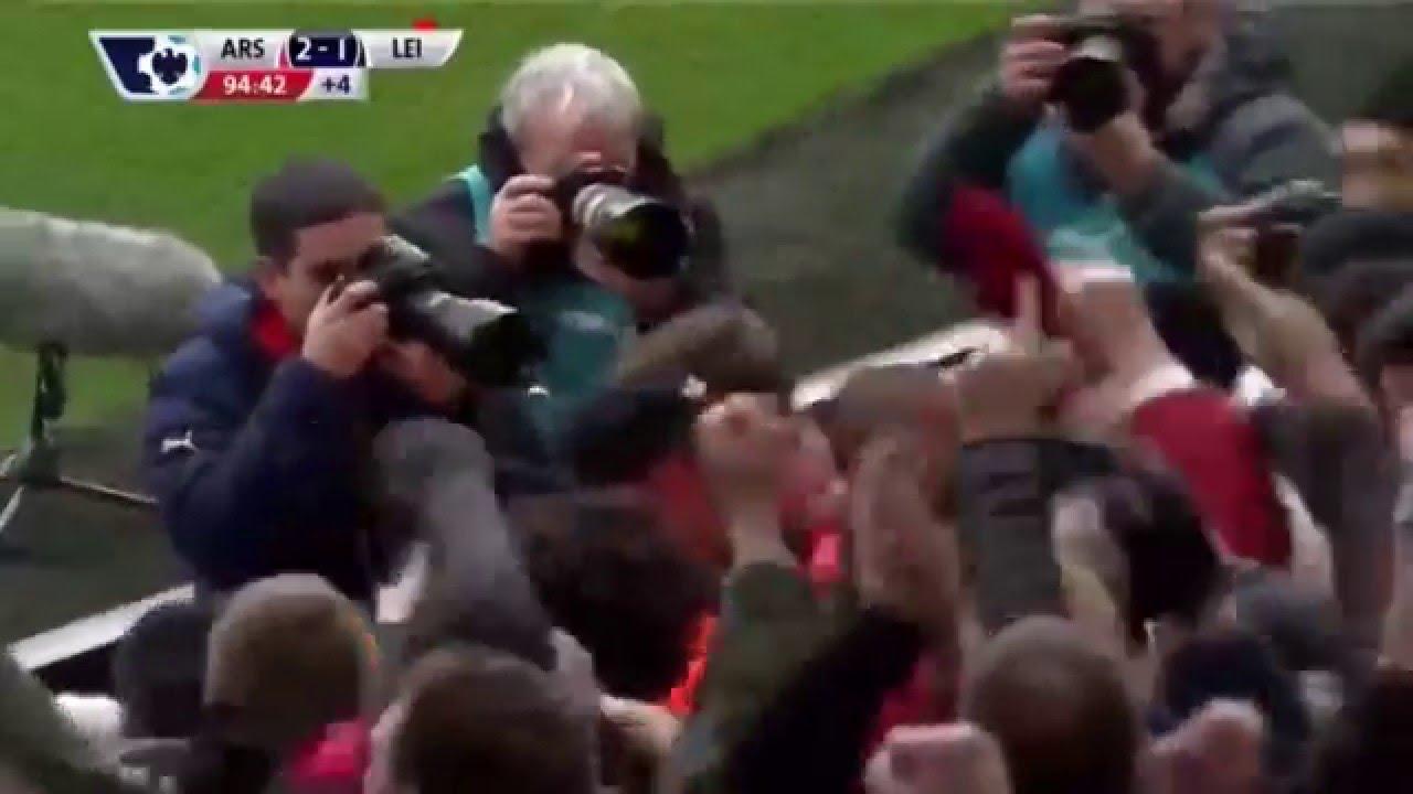 Арсенал лестер сити 14 02 2016 видео голов