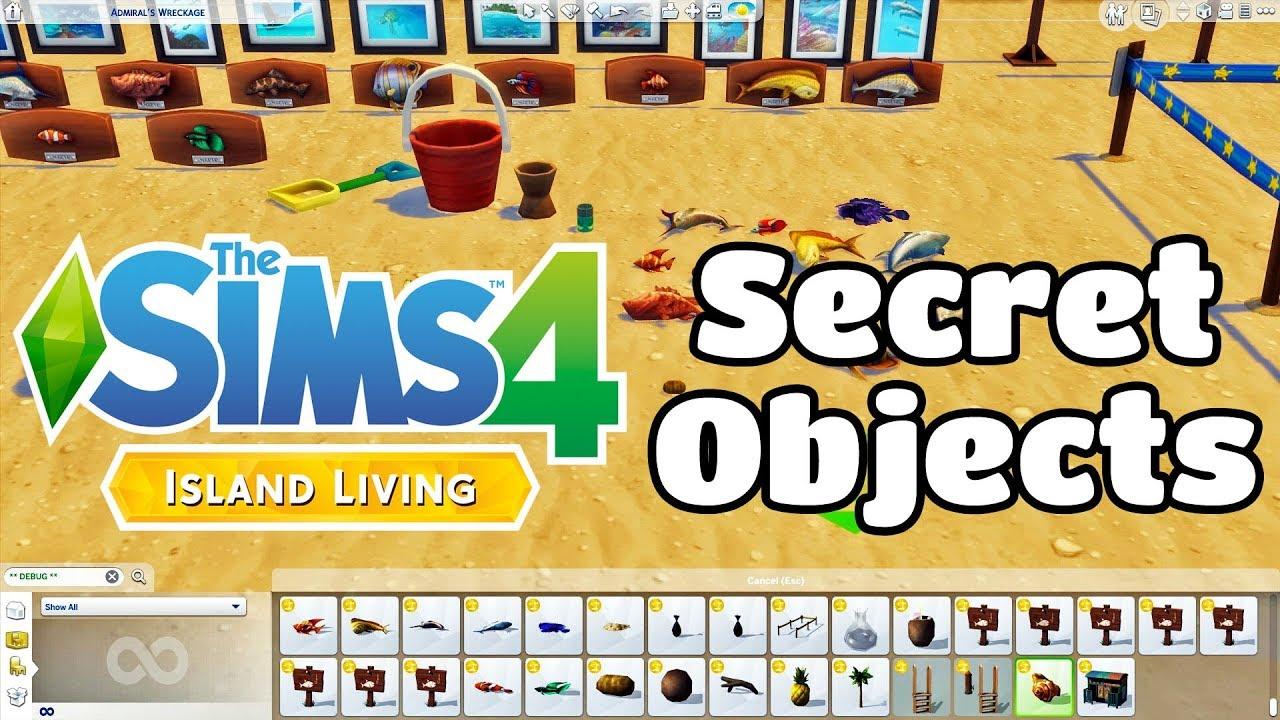 The Sims 4 Island Living Secret Objects Debug Menu Youtube