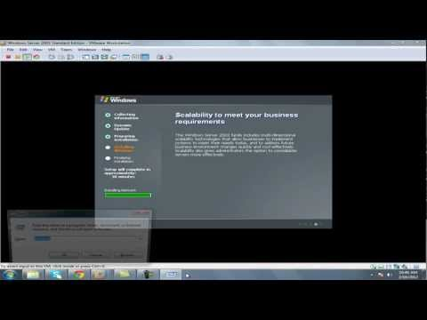 how to install windows server 2003 on vmware workstation in windows 7.mp4