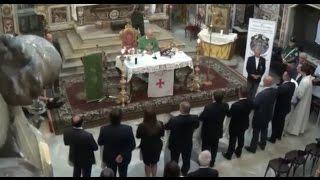 Aversa (CE) - Templari, nella chiesa di San Francesco ordinati nove cavalieri (21.06.15)