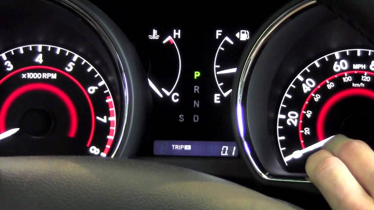 2012 Toyota Highlander Odometer And Trip Meter How