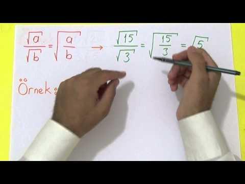 TEOG KAREKÖKLÜ 2 Şenol Hoca Matematik