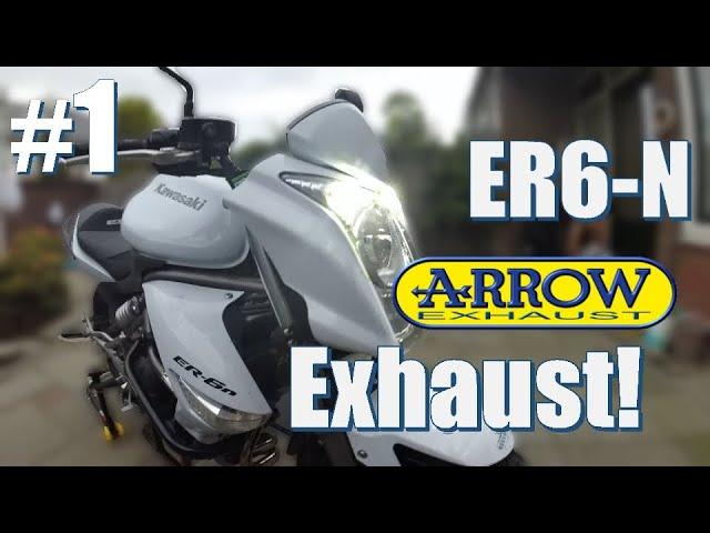 Kawasaki ER6N Arrow Exhaust Install | With SOUNDCHECK